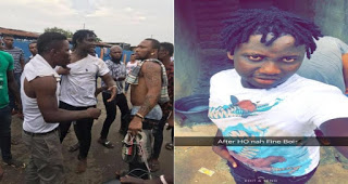 Popular Nigerian Yahoo Boy Known As Tomiwa Allegedly Caught Stealing In Egbeda (Photos)