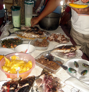 April 21: Delicious food served at Sta. Maria, Ilocos Sur Beach.