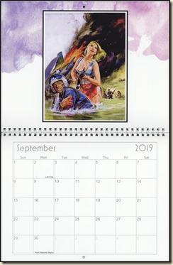 Eva Lynd 2019 calendar - September Eva