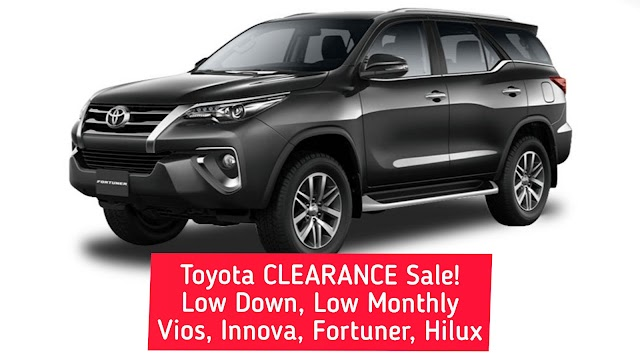 Toyota FORTUNER Clearance Sale!