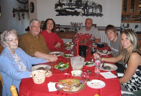 Christmas pics for 2018 -family dinner with Mom 2007