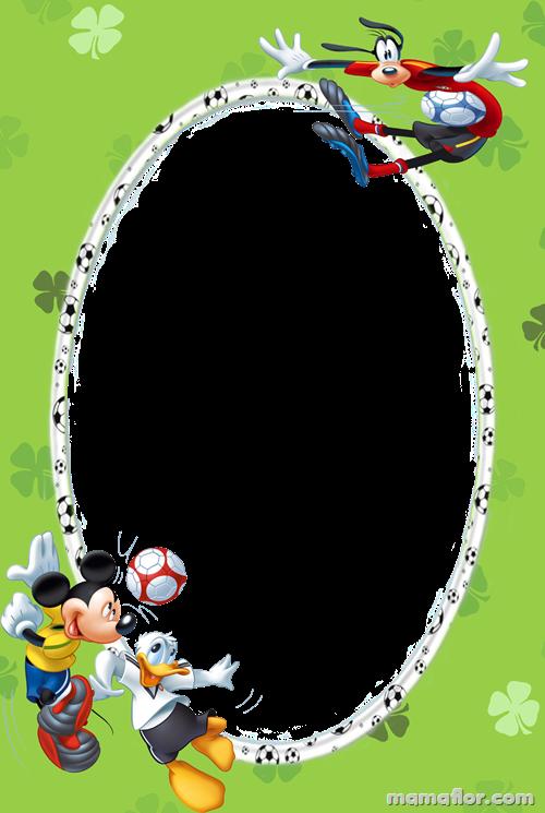 Marco de Fotos: Fútbol con Mickey, Donald y Goofy