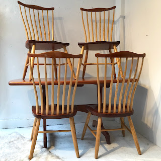 Stephen Swift Signed Cherry and Oak Dining Set
