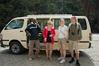 Posing in front of the safari-bus before heading to Naivasha