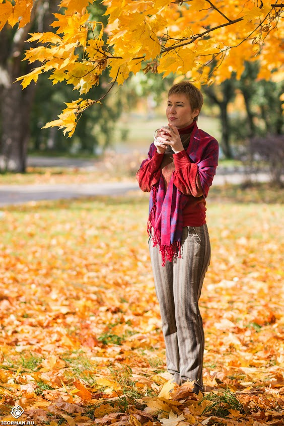 Тёплая осенняя фотосессия в парке, фотосессия на природе, фотосессии девушек