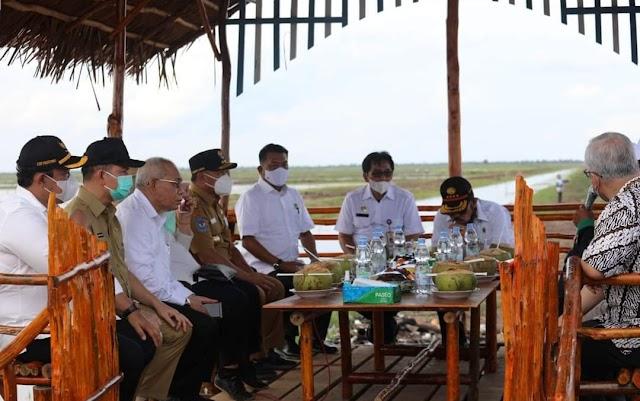 Gubernur Sugianto Dampingi Kunker Tiga Menteri di Lokasi Food Estate di Kapuas