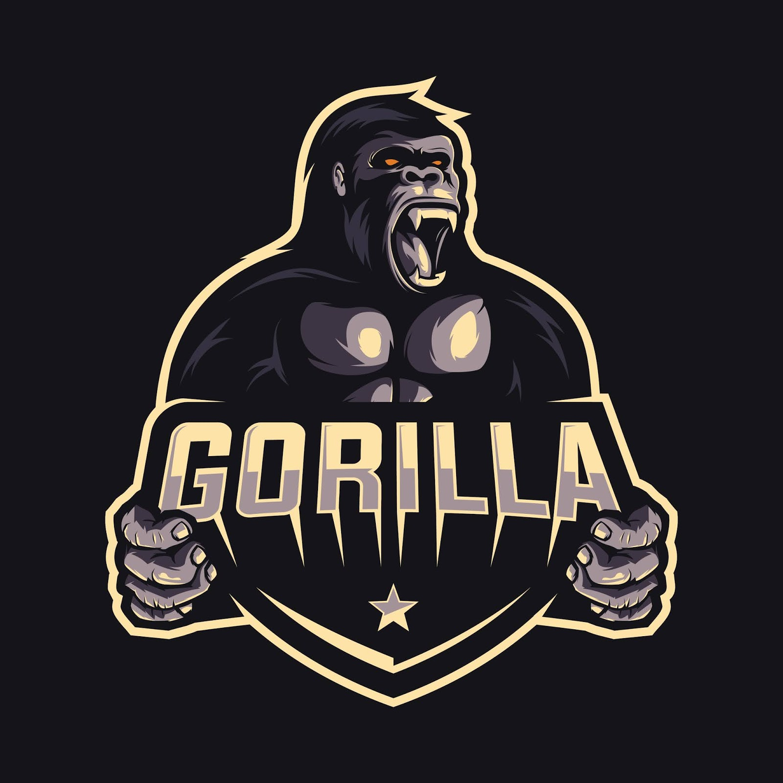 Gorilla Logo Design Free Download Vector CDR, AI, EPS and PNG Formats