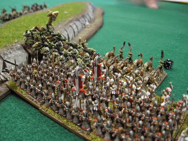 His cav charge my spearmen.