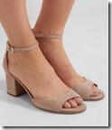 Sam Edelman Nude Suede Ankle Strap Sandals
