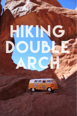 Hiking Double Arch in Arches National Park