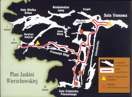 plan jaskini wierzchowskiej górnej
