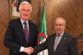 Michel Barnier publie ses photos sur son compte twitter: L'étrange visite d'un ex-ministre français à Alger
