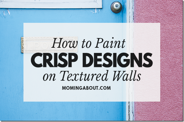 Paint Designs on Textured Wall
