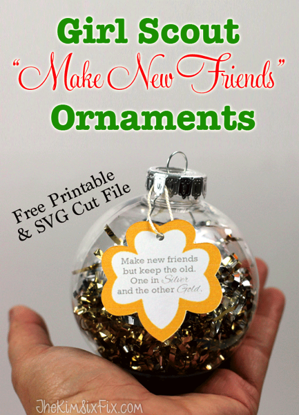 Easy DIY Girl Scout make new friends ornaments