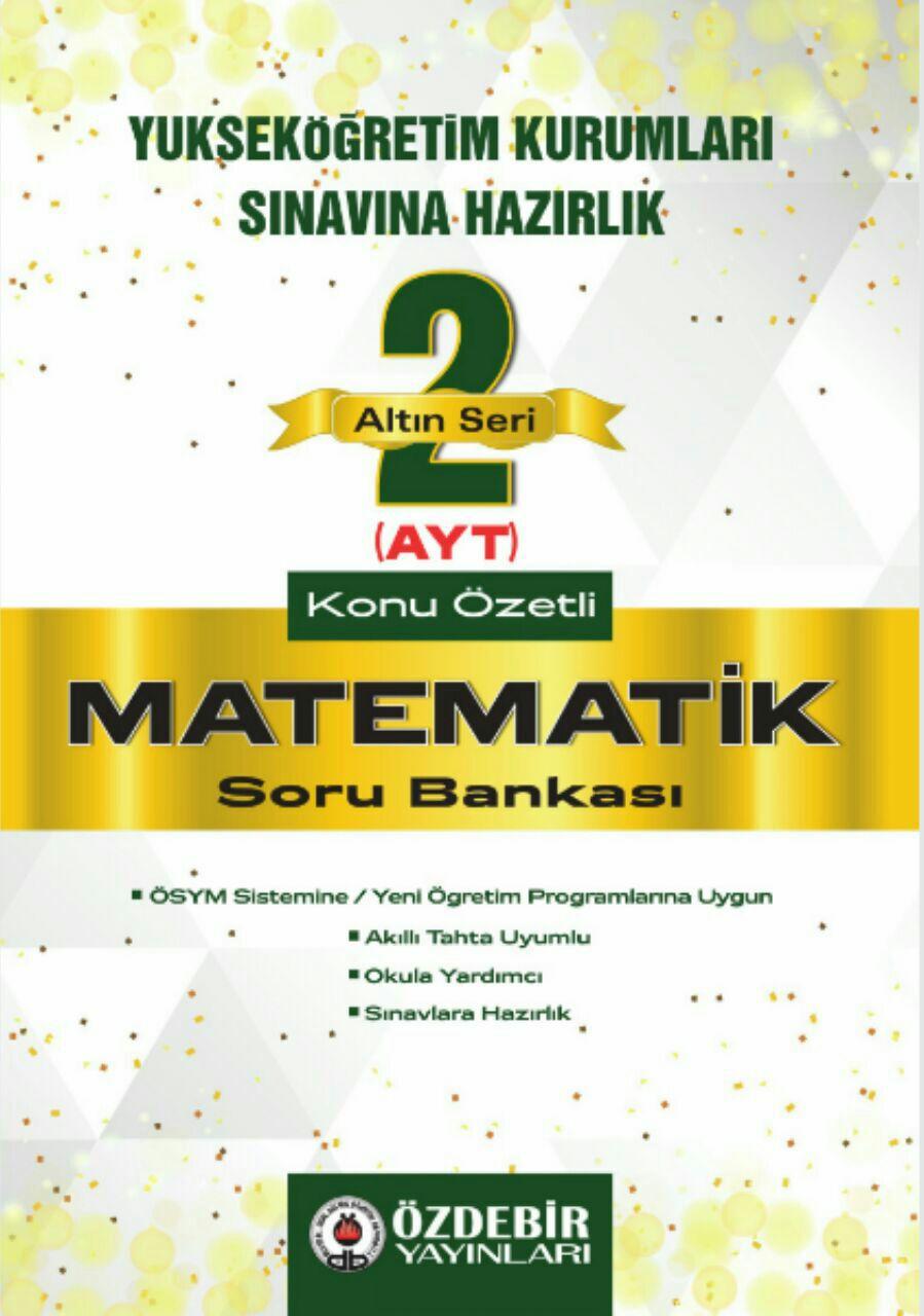 Özdebir Yayınları AYT Matematik Soru Bankası