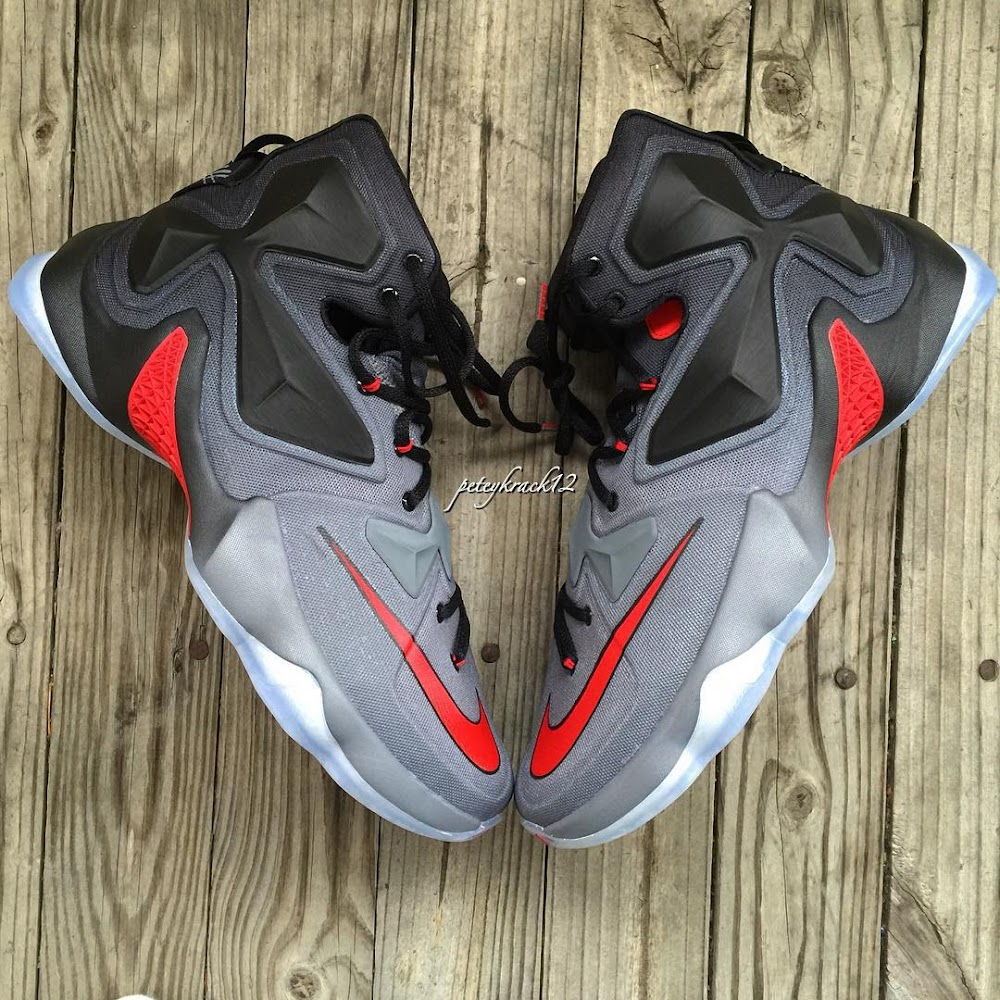 99535940d46 ... Closer Look at Nike LeBron XIII Ohio State Buckeyes PE 1 of 3 ...