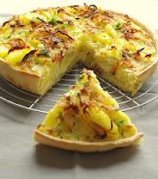 Tarte aux pommes de terre et au brie