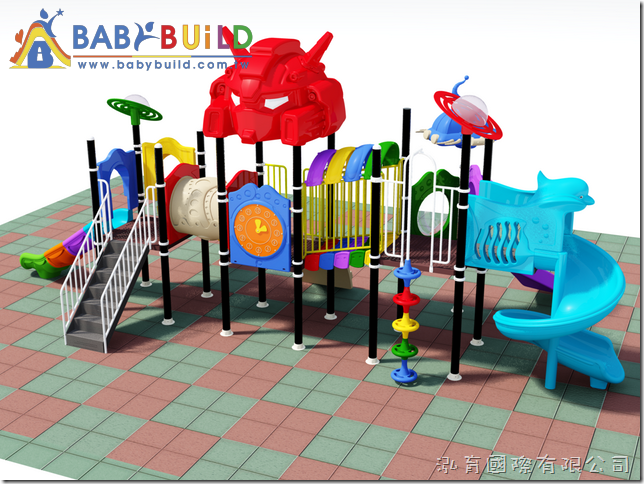 BabyBuild 鋼蛋主題風格遊具