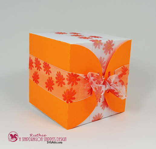 Ribbon wrap box - SnapoDragon Snippets - Ruthie Lopez - My Hobby My Art 4