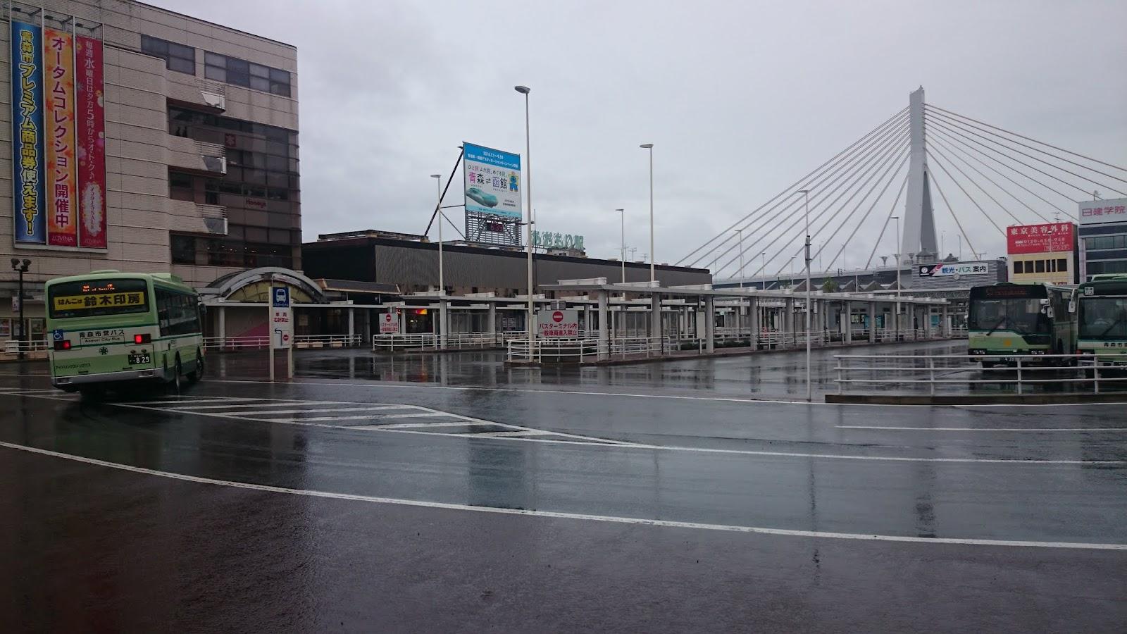 朝の青森駅