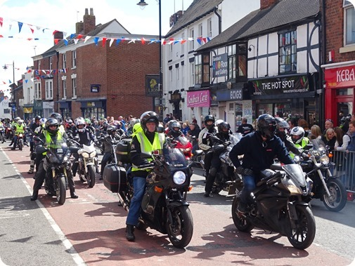 St Lukes Cheshire Hospice Charity Ride – arrival on High Street (2)