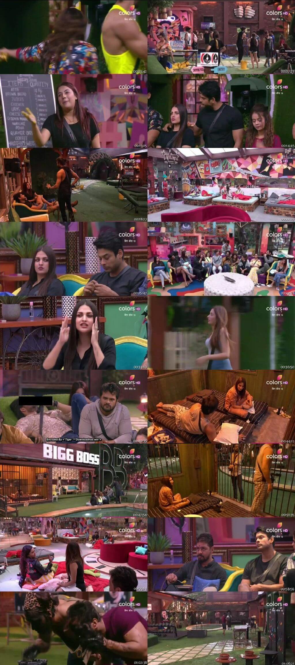 Screenshots Of Hindi Show Bigg Boss 13 15th November 2019 Episode 46 300MB 480P HD