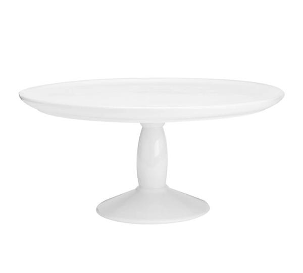 plain white cake stand