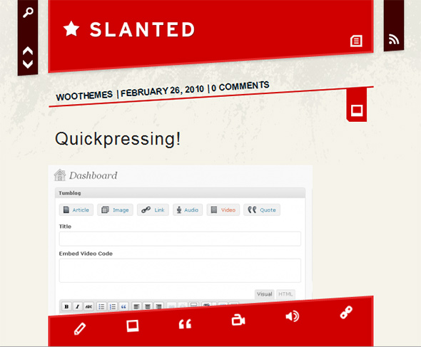Slanted Creative and Unusual WordPress Theme