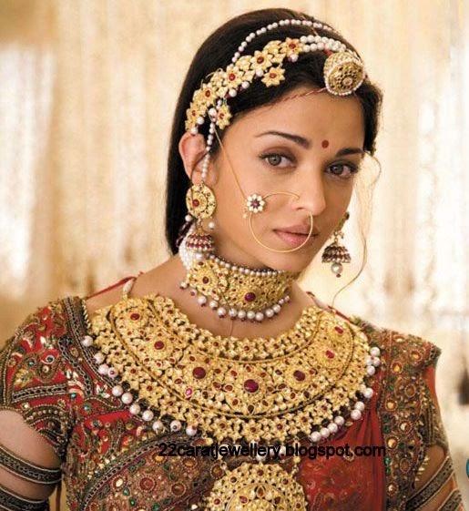 Aishwarya Rai Gold Antique Bridal Jewellery Jewellery