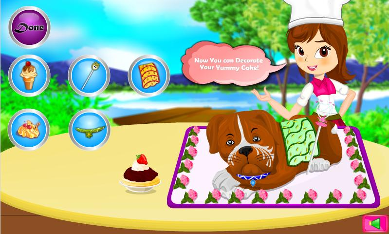 Boxer Dog Cake Cooking Game- screenshot