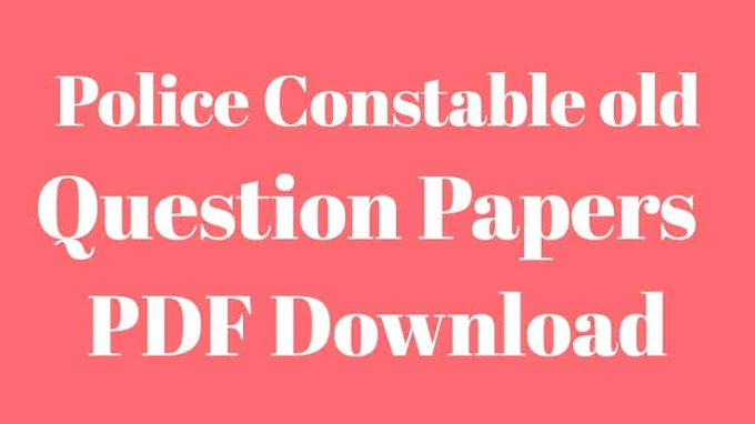 Latest PC & PSI Previous year Old Question papers -2020- Download Here