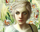 Girl Of White Flowers