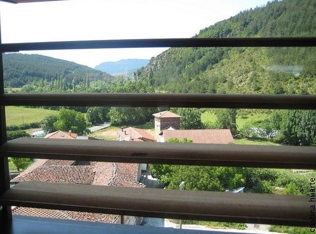 Vista desde la habitación especial de la torre(Habitación nº 6) por Cristina(www.hoteltorredeuriz.com).