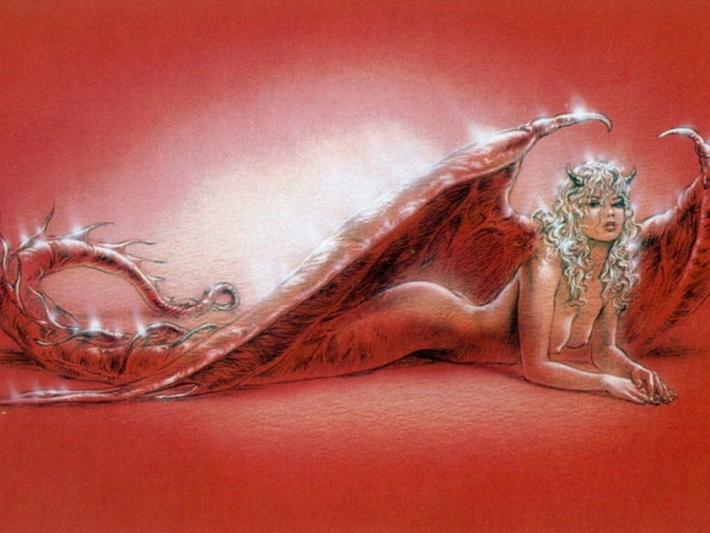Red Demoness On The Floor Of World, Demonesses