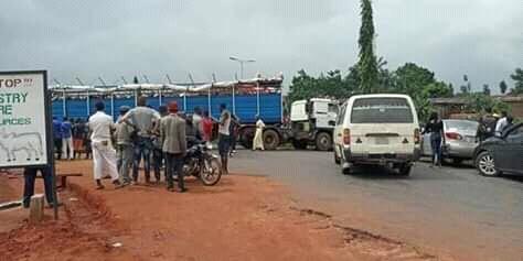 Asaba boils As Fulani Herdsmen blocks major Road with their trailers, shouting No Ruga, No Nigeria - Report