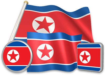 North Korean flag animated gif collection