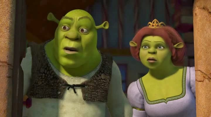 Screen Shot Of Hollywood Movie Shrek 2 (2004) In Hindi English Full Movie Free Download And Watch Online at Alldownloads4u.Com