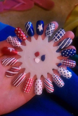 Latest Ideas Of Memorial Day Nail Designs 2016 Fashionte