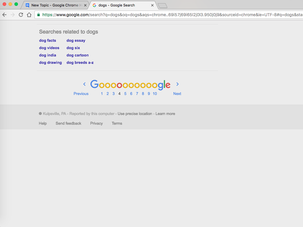 Blank space at the bottom of webpages - Aide Google Chrome