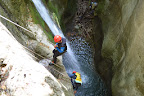 Abseiling in the Furon canyon instead of jumping the 11m jump (nice)