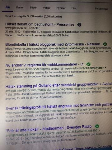 Hatsk stamning vid demonstration i goteborg