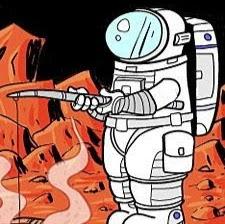 Magmadaki Astronot picture