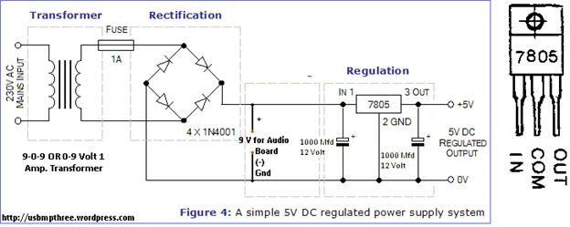 how to make mp3 player at home how to make mp3 player at home circuit diagram for ic7805