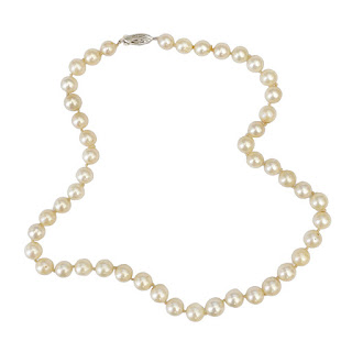 Pearl and 14K White Gold Necklace