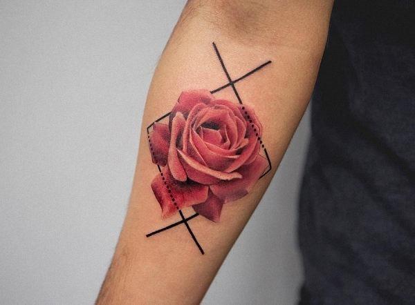 esta_bonita_geomtricas_aquarela_flor_da_tatuagem