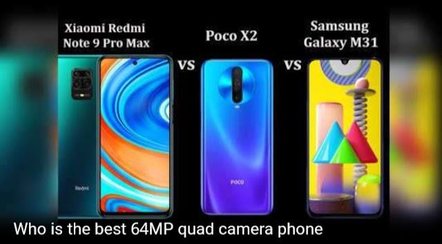Redmi Note 9 Pro Max vs Poco X2 vs Samsung Galaxy M31: Who is the best 64MP camera phone