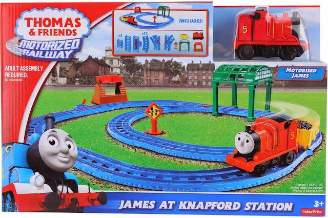 Sản phẩm Tàu hỏa James và đường ray trạm Knapford Fisher Price BGL97
