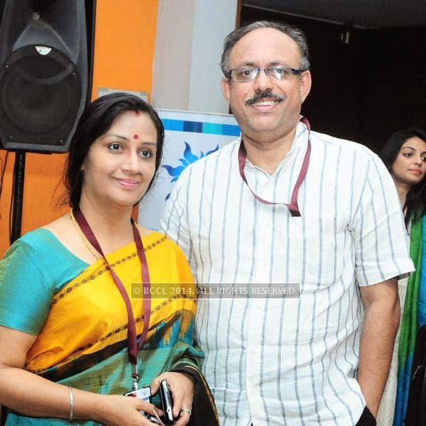 Menaka and Suresh Kumar during the International Documentary and Short Film Festival, held at Trivandrum.