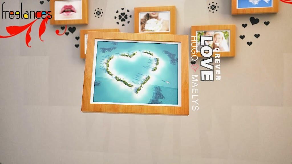 diaporama vidéo mariage modèle cadres photos texte intro 01 photo 01