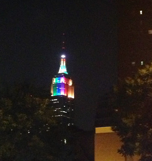 LGBT Empire State lights